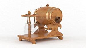 3D wine barrel model