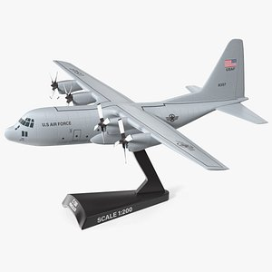3D Hercules C130 Scale Model with Stand