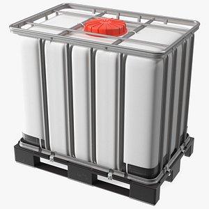 Kruizinga IBC Container 640 Litre UN Approved Plastic Pallet 3D model