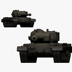 3D 001146 american tank T-32