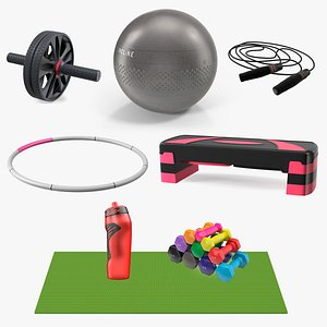 3D Fitness Equipment Collection 4 model