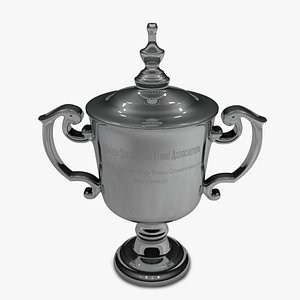 3D US Open Men 2021 singles trophy L1488