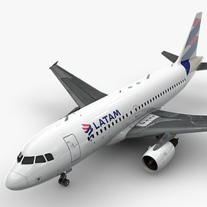 AirbusA319-100LATAM AirlinesL1426 3D