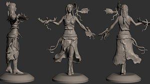 Daenerys Targaryen with dragons 3D print  Game of Thrones model