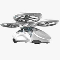 3D sci-fi futuristic passenger