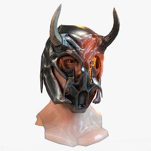 Warrior Head and Helmet 3D