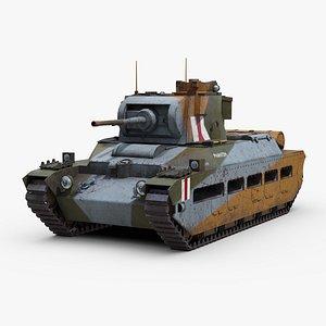 british matilda 2 tank 3D model