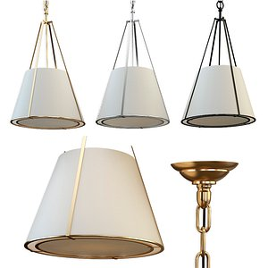 3D aspen small conical hanging