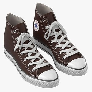 Basketball Shoes Brown 3D model