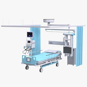 hospital bed 3D