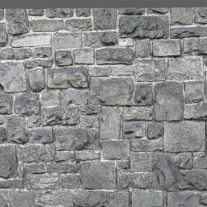 3D stone wall model