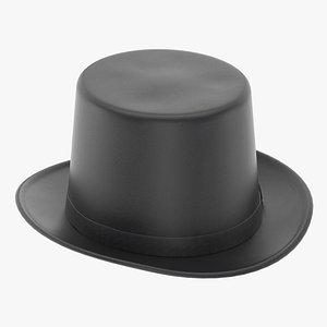 3D Lincoln Felt Top Hat model