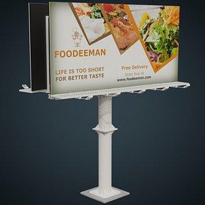 Billboard 3B 3D model