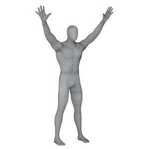 3D man mannequin abstract