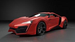 3D model Lykan Hypersport Supercar