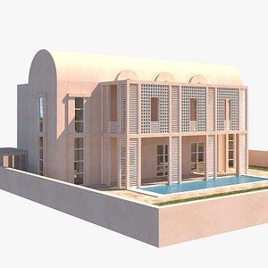 3D Modern Villa Michael Graves model
