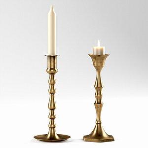 candle vintage candleholder 3D