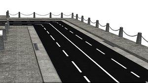 3D Pavement Road Set