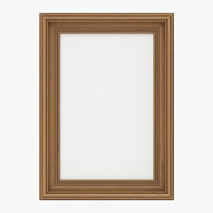 Frame with picture portrait 01 3D