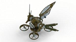 Animated SolarDrone PBR 3D model