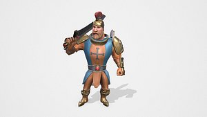 3D Warrior Game Animations