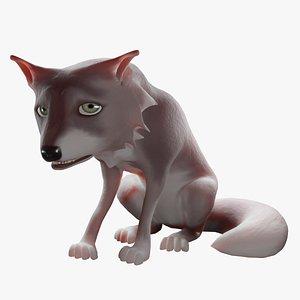 Wolf-2 Cartoon 3D