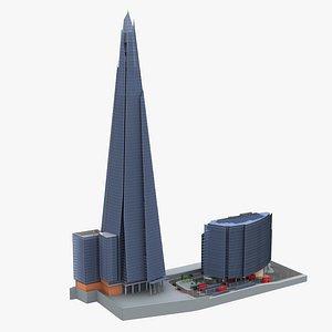 The Shard  News Building  London 3D model