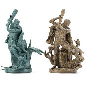 StatueofHeculesslyingtheLernaeanHydra 3D model
