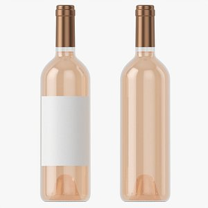 3D model Wine bottle mockup 03