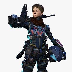 Scout Pilot Anim Rig 3D