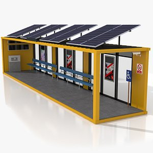 3D 40 Foot Container Bus Stop model