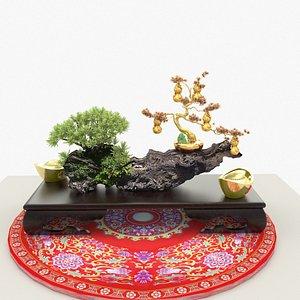 yuanbao gourd 3D model