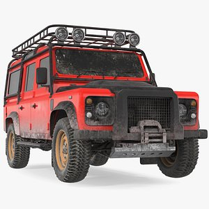 3D model Dirty Off Road Car Exterior Only