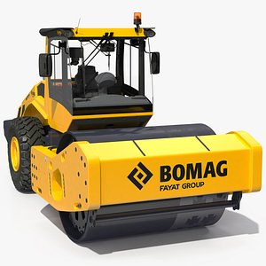 BOMAG BW226 DH5 Single Drum Compactor Clean 3D model