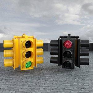 3D traffic light model