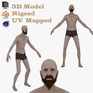 3D model 3D Elder Human Anatomy
