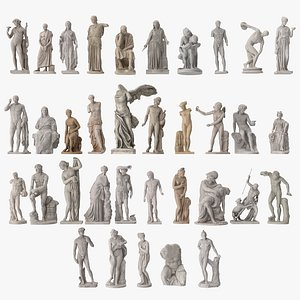ancient statues 3D model