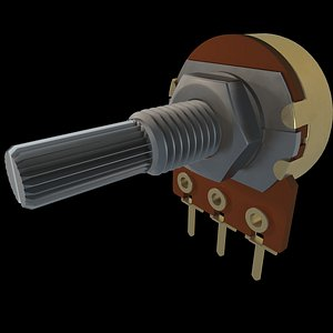 potentiometer pot 3D model
