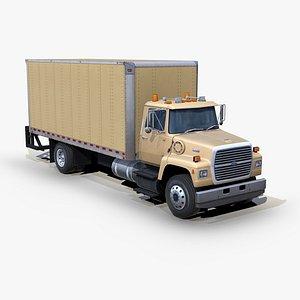 l8000 box truck 3D model