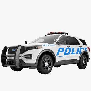 Ford Explorer 2020 Police 03 3D model