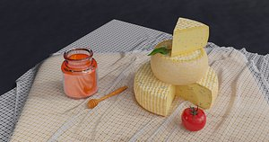 3D Cheese pack model