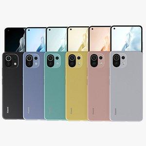 Xiaomi Mi 11 Lite All Colors 3D model