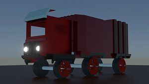 zombie truck low poly 3D