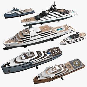 Explorer Yachts Collection 3D