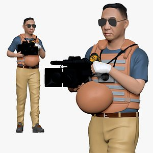001123 cameraman in armor 3D model