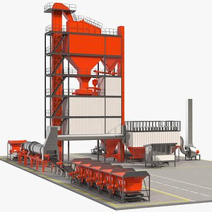 Stationary Asphalt Mixing Plant 3D model