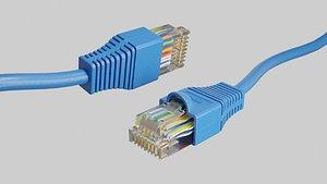3D cable ethernet plug