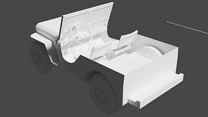 classic war jeep 3D model