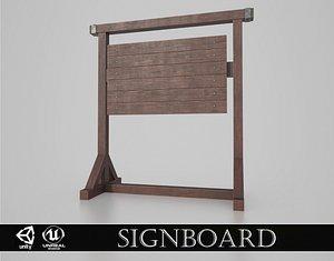Medieval Signboard v3 3D