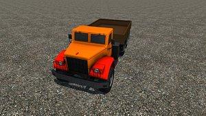 3D model industrial cargo truck